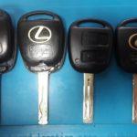 Lexus LX470 сломались со временем 2 ключа в месте соединения лезвия ключа и пластиковой части
