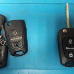выкидном ключе от автомобиля Hyundai Solaris