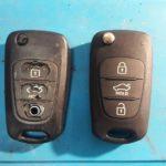 Hyundai частая проблема на выкидных чип ключах - стёртые кнопки до дыр