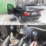 BMW X5 сломался толкатель в дверном замке автомобиля