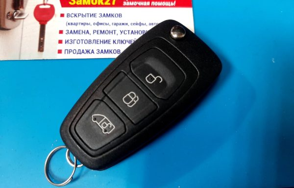 Ключ для Ford Transit 2014-, Transit Tourneo Connect 2013-, Transit Tourneo Custom 2012